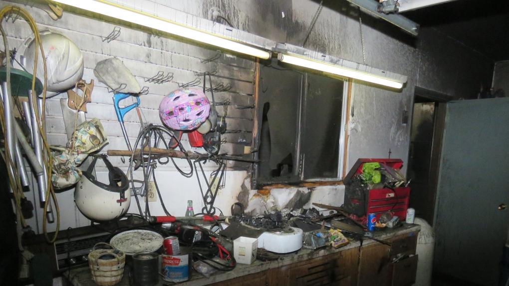 nixon garage fire