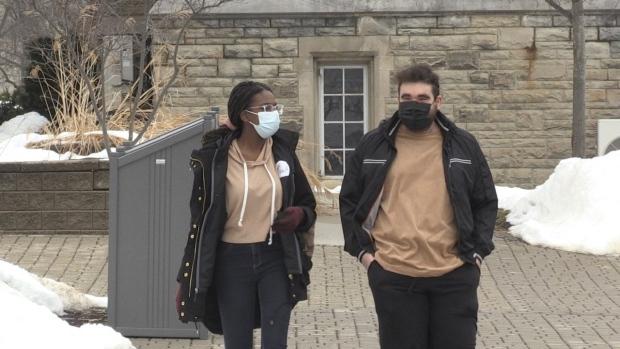 Western University students look forward to heading back to class in September, 2021 (Jordyn Read / CTV News)
