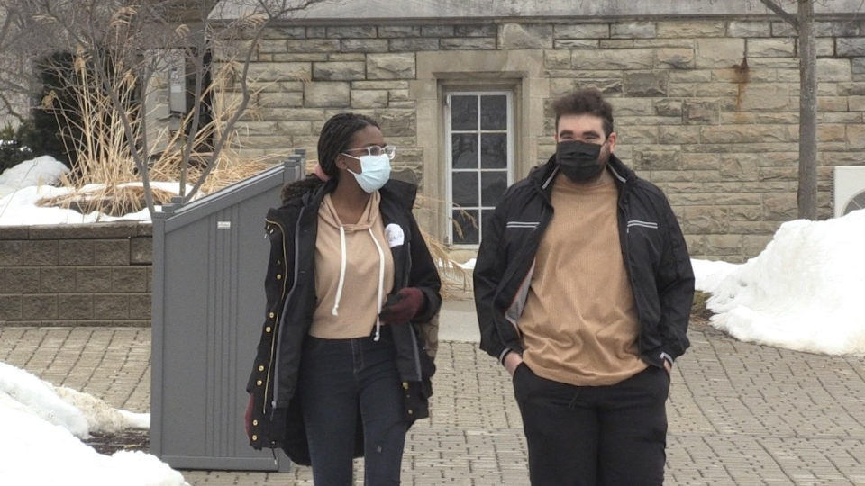 Western University students look forward to heading back to class in September, 2021 (Jordyn Read / CTV News)