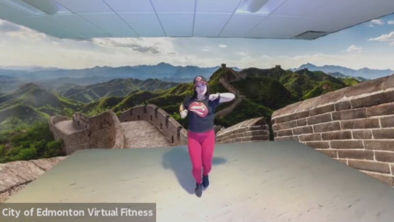 Damara Lopez's virtual fitness class for the City of Edmonton.