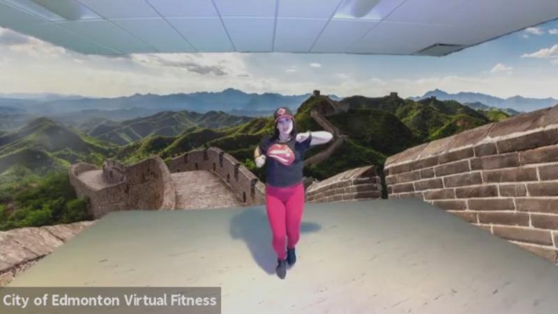 Damara Lopez's virtual fitness class for the City of Edmonton.