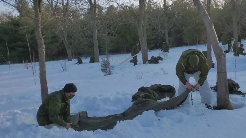 Armed forces training at Guelph Lake