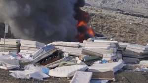 Landfill fire burns for 22 hours