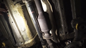 Thieves are targeting the catalytic converter, part of the vehicle's exhaust system, according to police.