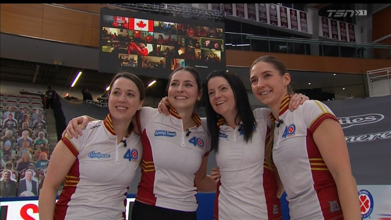 Kerri Einarson won a second straight Canadian women's curling championship on Sunday, Feb. 28, 2021. (Source: TSN)