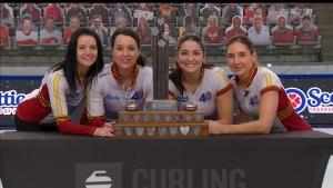 Kerri Einarson won a second straight Canadian women's curling championship on Sunday, Feb. 28, 2021. (Source: TSN)