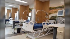 Image supplied by the Manitoba government of the new hemodialysis unit.