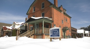Hope Awaits Ministries in North Bay is a homeless shelter for men. Feb. 28/21 (Eric Taschner/CTV Northern Ontario)