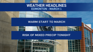 March 1 Edmonton weather forecast wxblog