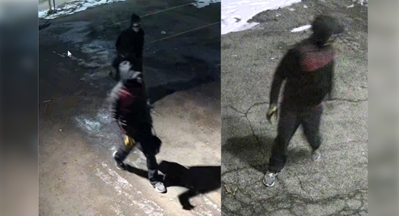 Beef Baron arson suspects seen in surveillance video on the morning of Jan. 26, 2021 in London, Ont.. (Supplied)