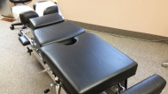 A chiropractor's table is seen in this undated file photo.