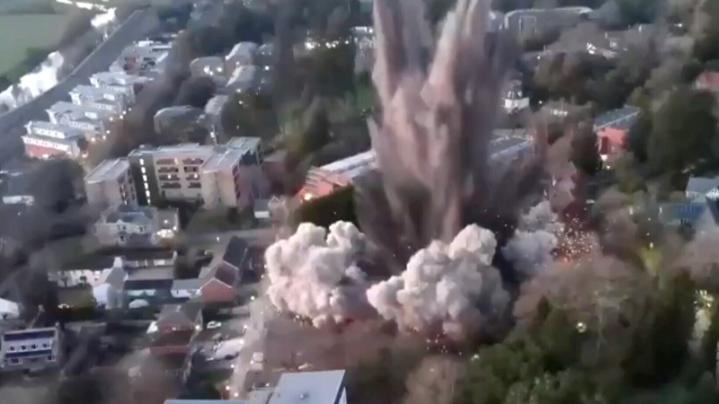 WWII-era bomb explodes in the middle of U.K. town