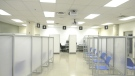 Once up and running, the Queensway Carleton Hospital's vaccination clinic will be able to vaccinate up to 1,000 people a day. (Katie Griffin/CTV News Ottawa)