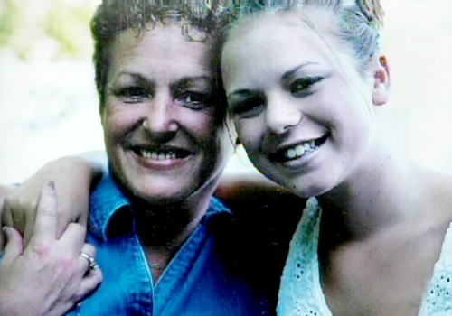 Two people remained in the balloon -- Shannon and Gemma Knackstedt, a mother and daughter. Gemma was there to celebrate her mother's birthday.
