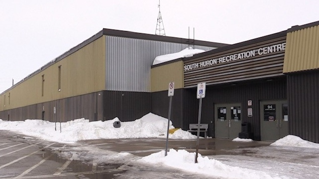 South Huron Recreation Centre in Exeter, Ont. on March 1, 2021. (Scott Miller/CTV London)