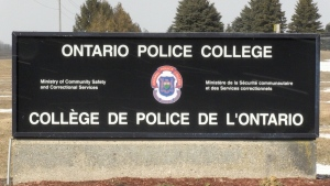 The Ontario Police College in Aylmer, Ont. is seen Monday, March 1, 2021. (Jim Knight / CTV News)