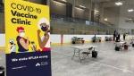 The COVID-19 vaccination clinic at the Invista Centre in Kingston, Ont. (Kimberley Johnson / CTV News Ottawa)