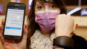 Israel has launched electronic bracelets allowing wearers to quarantine at home -- and authorities to track their movements (AFP)