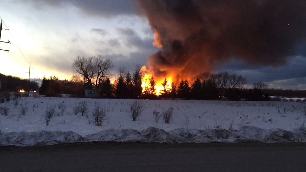 Meaford Barn Fire
