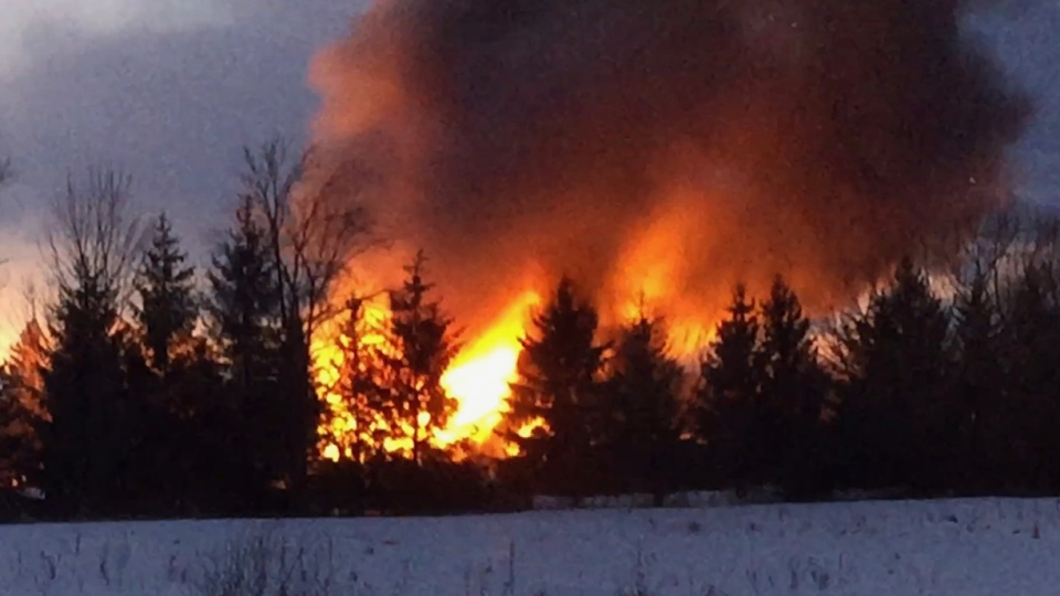 Barn fire meaford