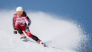 Mollie Jepsen of Canada competes in the women's super-G, standing, at the 2018 Winter Paralympics in Jeongseon, South Korea, Sunday, March 11, 2018. (AP Photo/Lee Jin-man)
