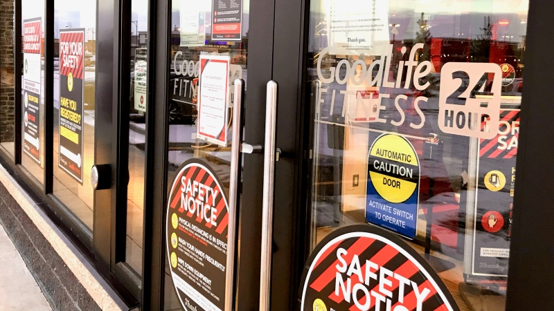 GoodLife gym employees and users in Edmonton are eagerly awaiting the loosening of COVID-19 restrictions in Alberta. (Sean Amato/CTV News Edmonton)