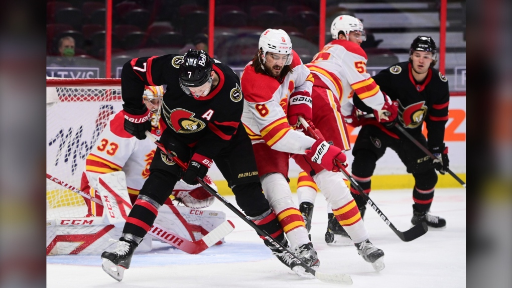 Flames, Sens, March 1, Tkachuk, Tanev