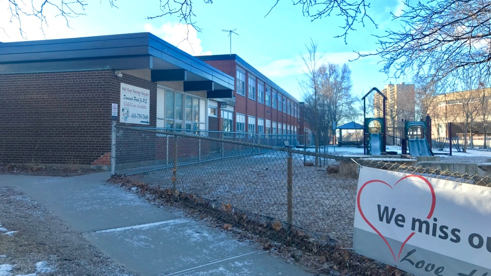 Donwood Park Public School is seen on March 2, 2021. (Francis Gibbs/CTV News Toronto)