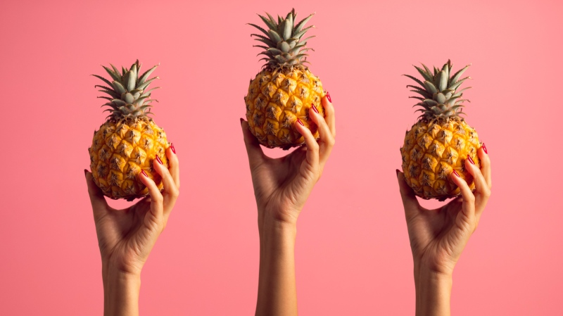 Three pineapples are shown in this file photo. (Aleksandar Pasaric / Pexels)