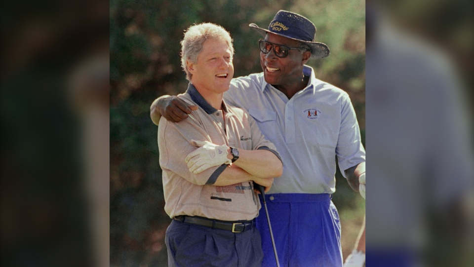 Bill Clinton and Vernon Jordan
