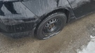 Woodstock police are investigating after several vehicles had their tires slashed over the weekend. (Source: Wes Mitchell).