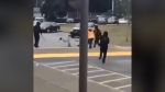 Video posted to social media appeared to show a fight between teens at a Surrey high school on March 1, 2021.