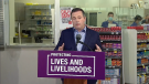 Premier Jason Kenney, Health Minister Tyler Shandro, Finance Minister Travis Toews and Dr. Verna Yiu highlighted the province's funding commitment to its health system and pandemic response on Tuesday.