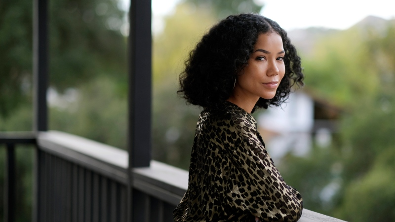 Singer Jhene Aiko poses for a portrait, Monday, Dec. 7, 2020, in Los Angeles. (Photo by Chris Pizzello/Invision/AP)