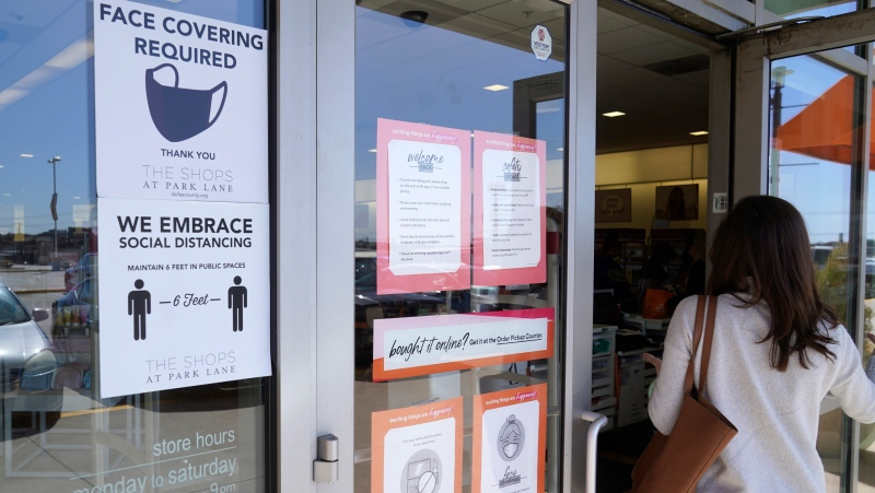 Police in Halifax have fined a 55-year-old man for refusing to wear a mask inside a business.