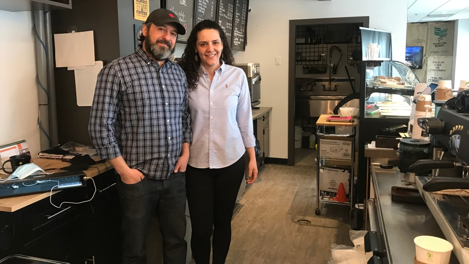 Fabio and Cristina Maletta have owned Fix. Coffee on Rose Street for three years. (Cally Stephanow / CTV News Regina)