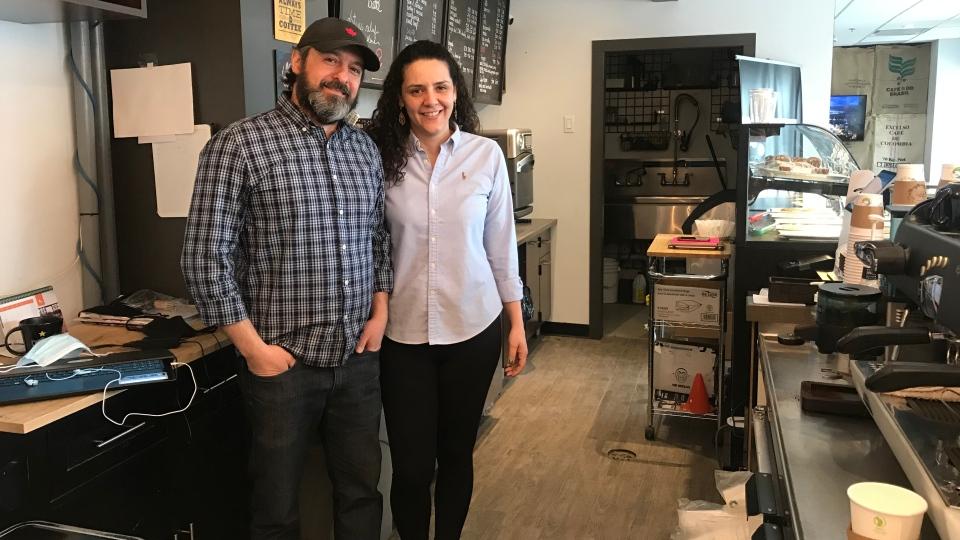 Fabio and Cristina Maletta have owned Fix. Coffee on Rose Street for three years. (Cally Stephanow / CTV News Regina)