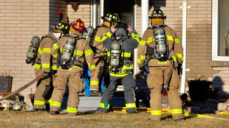Fire crews were on scene of an upgraded house fire in the 3900 block of Lauzon Road in Windsor, Ont. on Tuesday, March 2, 2021. (courtesy OnLocation)