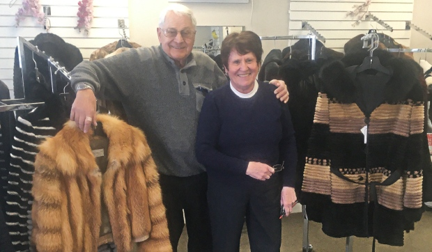 Marc and Claire Lafrance have worked together for the past 48 years operating Lafrance Furs and say they will miss the business. (Alana Everson/CTV News)