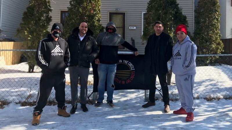 In March 2020, Russell Lee Abraham (left) opened his non-profit Accountable on Atlantic – a series of eight sober-living homes in Winnipeg. (source: Rachel CrowSpreadingWings/ CTV News Winnipeg)