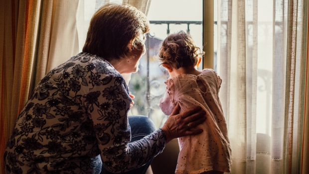 A grandmother and granddaughter are seen in this file image. (Pexels)