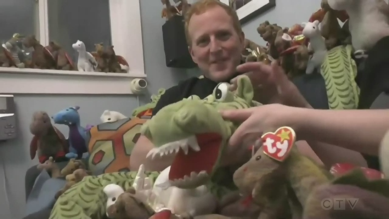 """It adds a little bit of fun in our lives and whimsy."" Adam finds out the love story behind a Nanaimo couple's collection of 150 plush dragons."