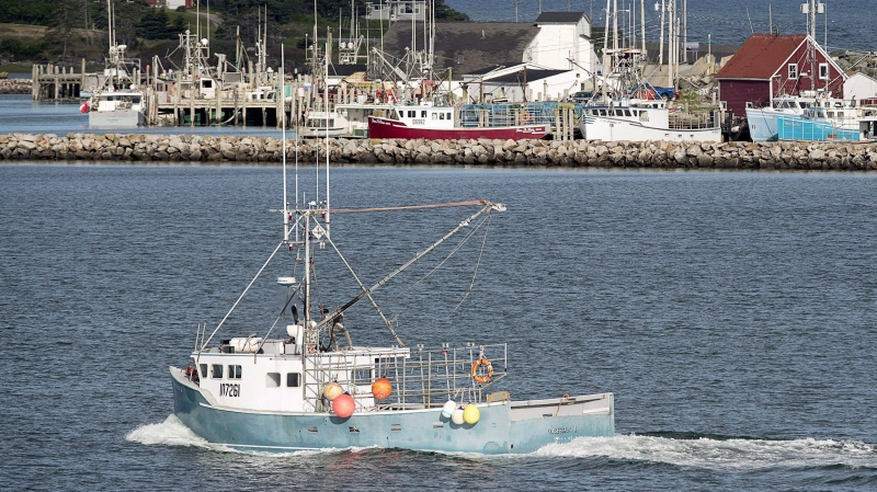 In this file photo, a fishing boat heads out the harbour in Yarmouth, N.S., on Wednesday, June 15, 2016. (THE CANADIAN PRESS/Andrew Vaughan)