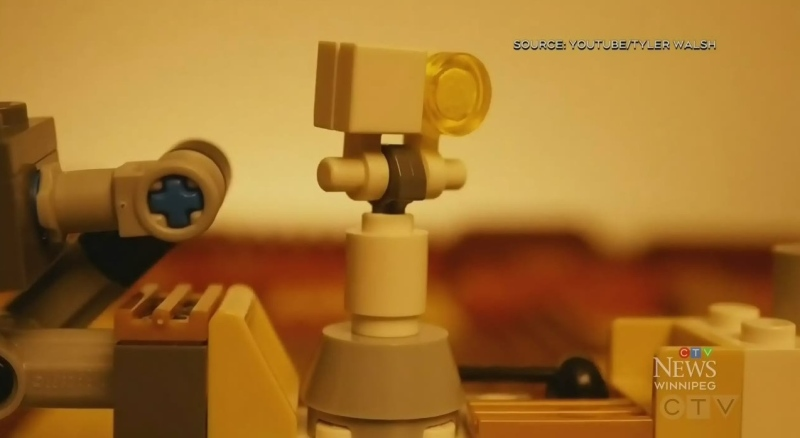 Marking Mars landing in Lego