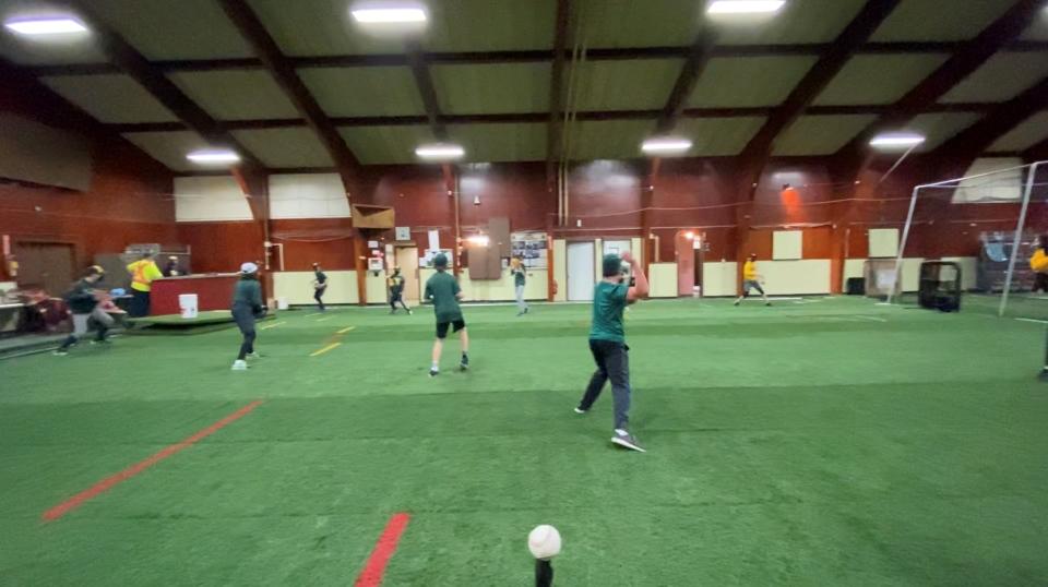 Indoor baseball Greely Legion