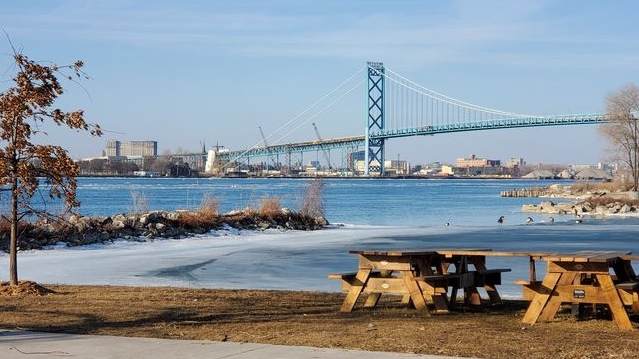 The Ambassador Bridge in Windsor, Ont. (Courtesy Cathy Bocchini)