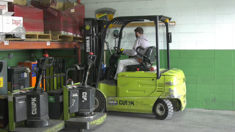 Edmonton's food bank, forklift, fundraiser