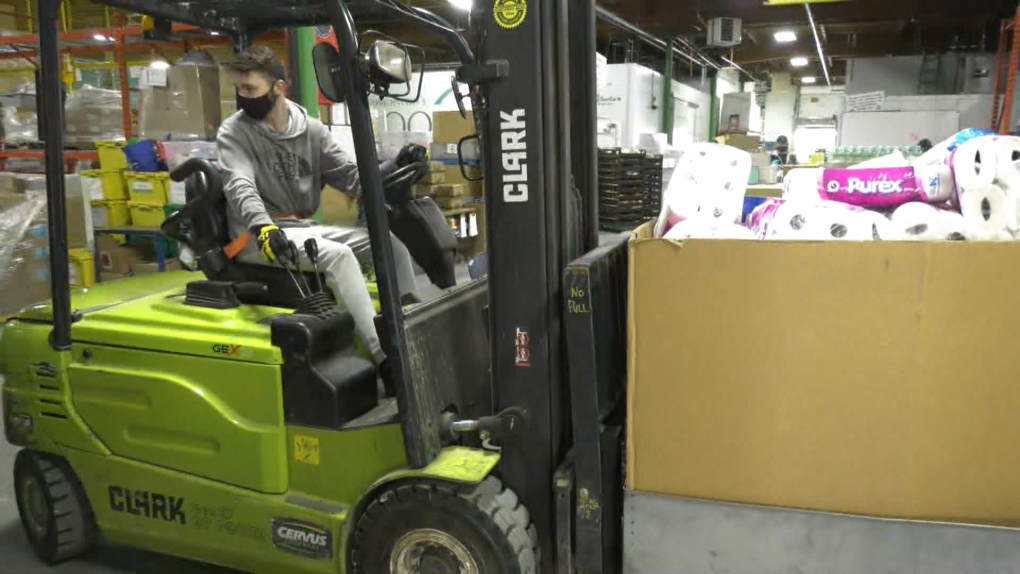 Edmonton's Food Bank, fundraiser, forklift