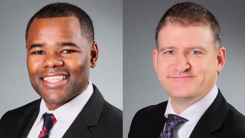 Councillors Mo Salih and Jesse Helmer.