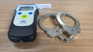 Orillia provincial police arrest a Barrie man accused of impaired driving on March 1, 2021 in Oro-Medonte, Ont. (OPP Central Region/Twitter)